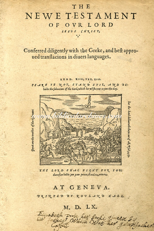GENEVA BIBLE 1560 FIRST EDITION - THREE LEAVES STUDY COLLECTION