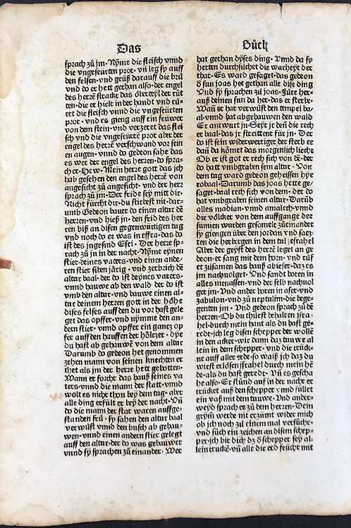 1487 Eleventh German Bible
