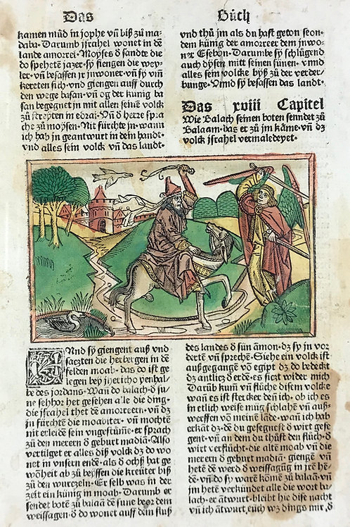 1487 Eleventh High German Bible Numbers 16-17 & 22