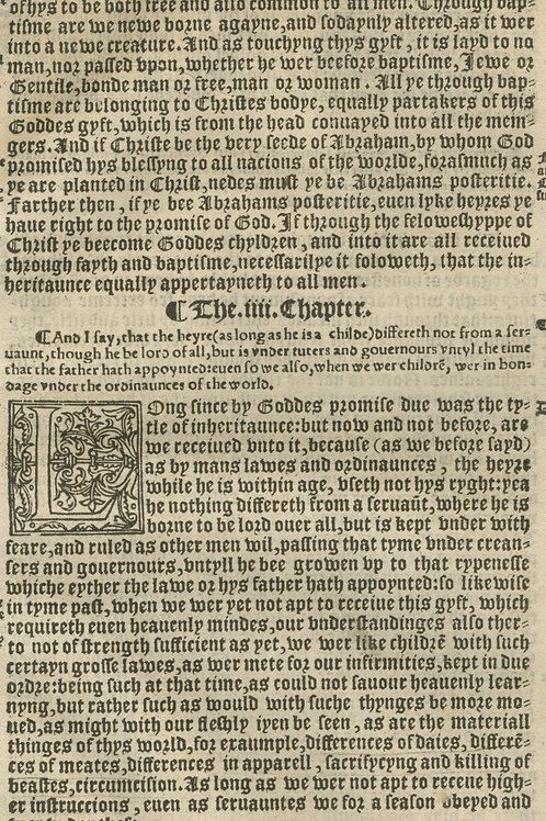 ERASMUS PARAPHRASED INTO ENGLISH - 1548/9 FIRST EDITION