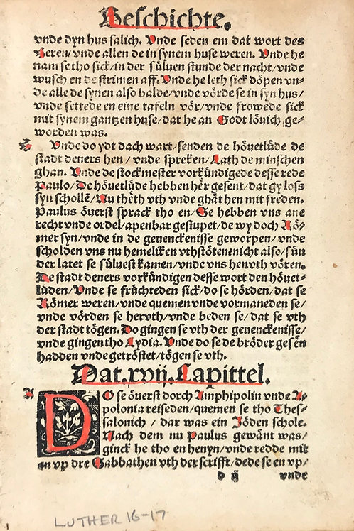 1531 Luther German Bible - Acts 16 - Doc Pomeranus