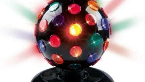 Palla Sfera Luci Colorate Disco Discoteca Rotante