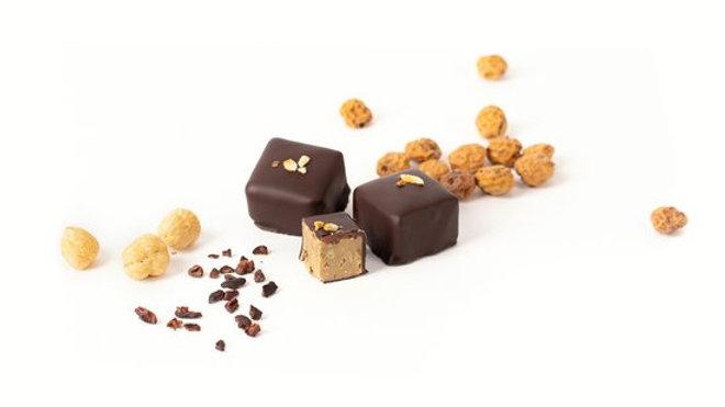 2 délices au chocolat cru noisette (sans sucre rajouté)