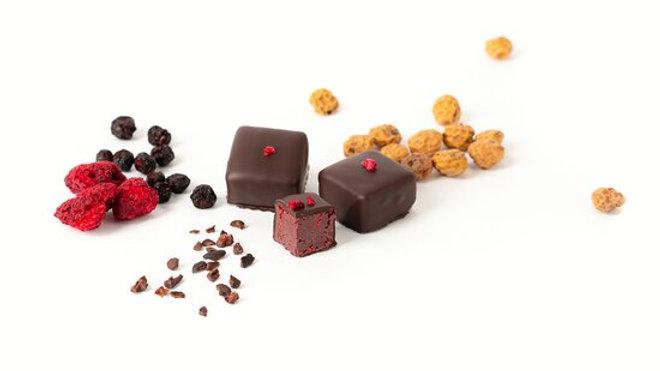 Chocolat cru framboises sans sucre rajouté