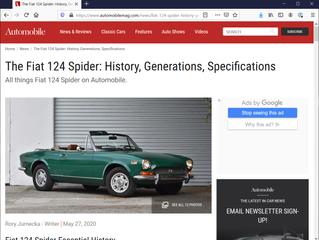 Geschiedenis Spider volgens Automobile