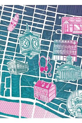 Glasgow Art Print - A3
