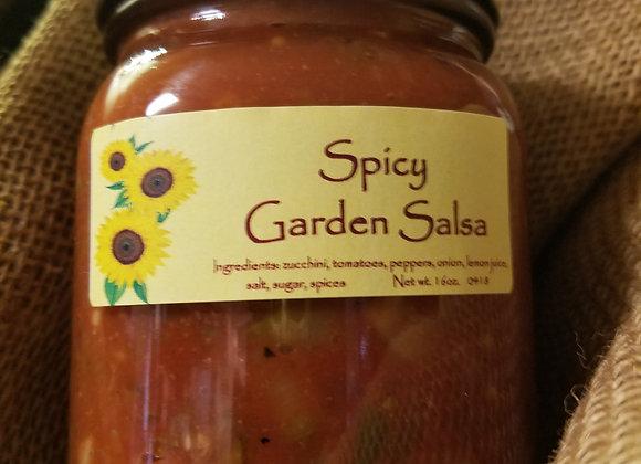 Spicy Garden Salsa- 16 oz