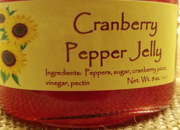 Cranberry Pepper Jelly- 1/2 pint