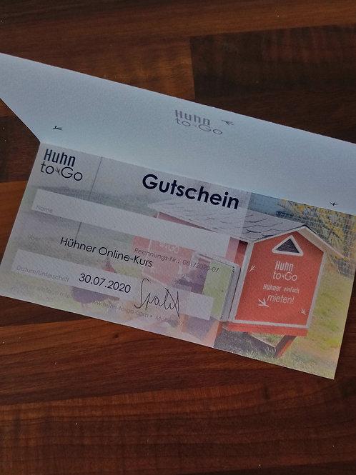 """Gutschein """"Huhn to Go"""""""