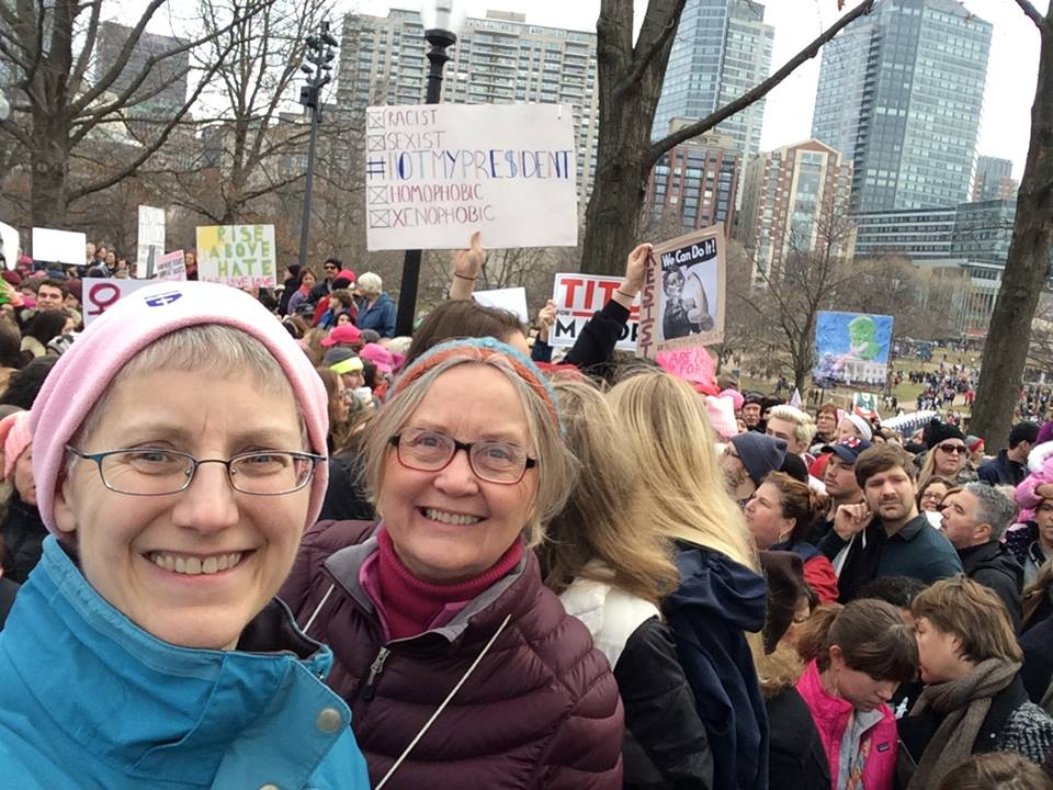 Donna at women's march