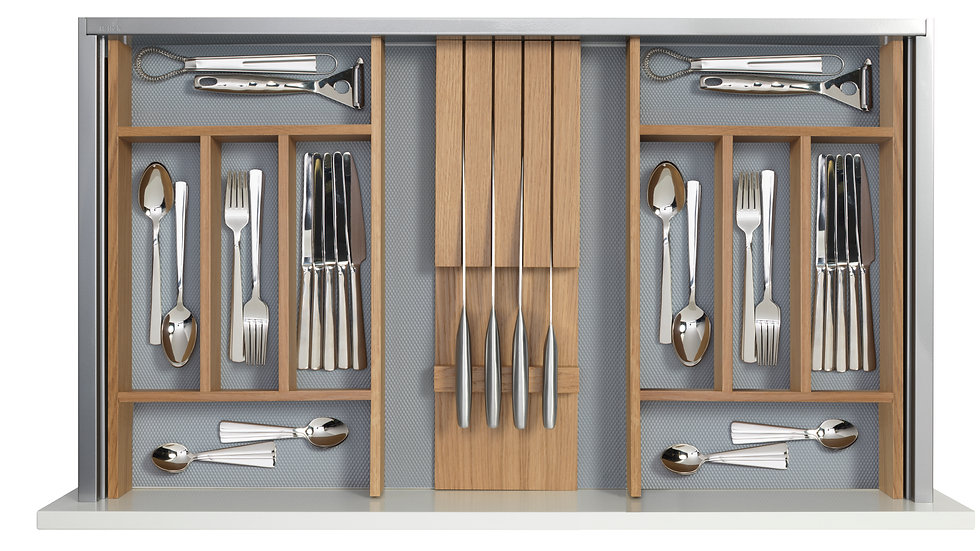 CUTLERY TRAY WITH KNIFE BLOCK