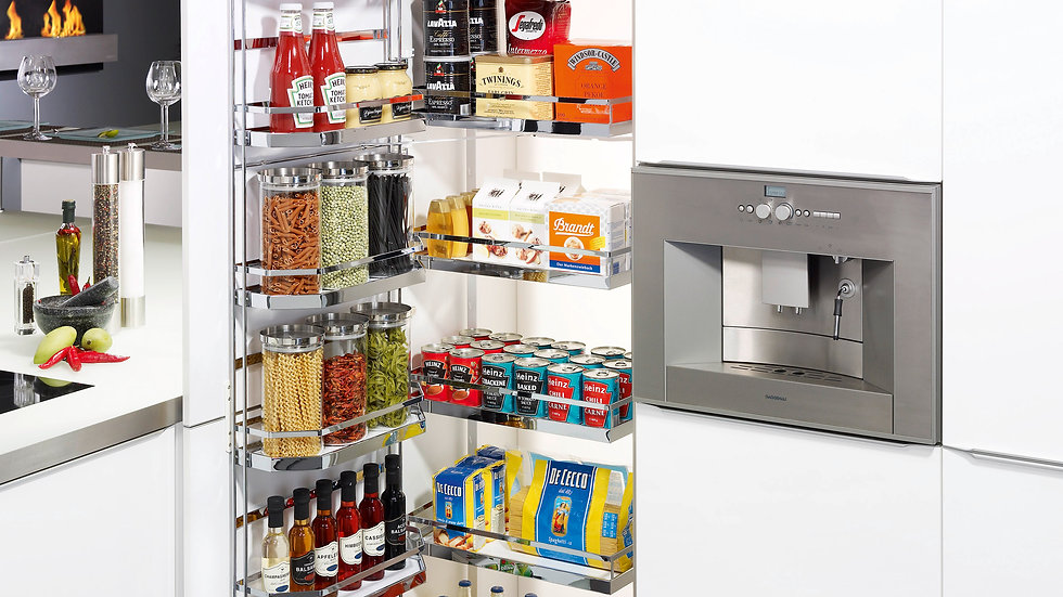 500 & 600 LARDER UNIT WITH CHROME PULL OUT