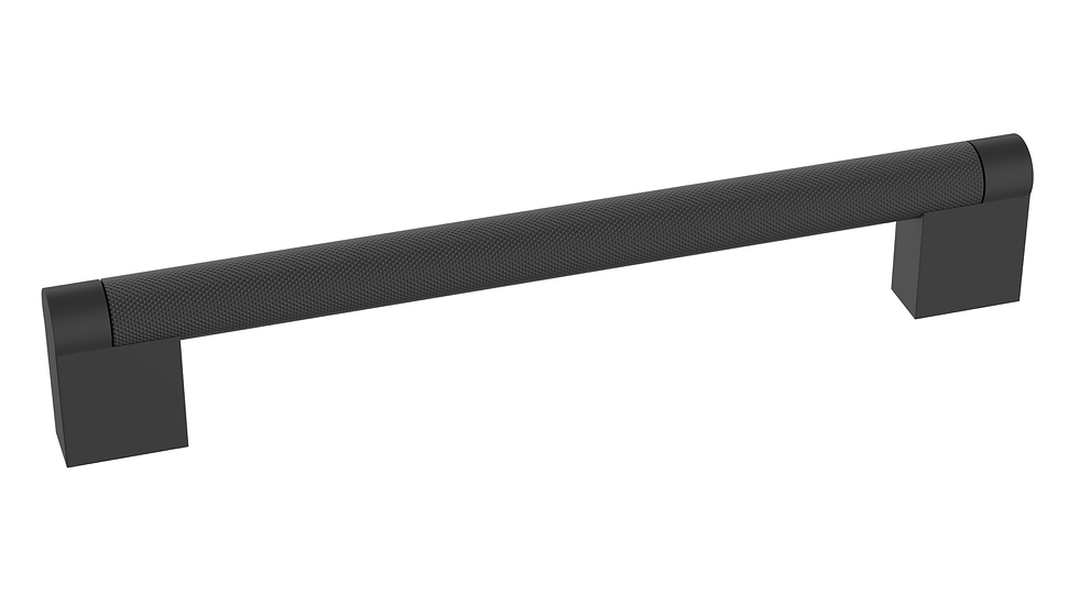 MATT BLACK KNURLED BAR HANDLE