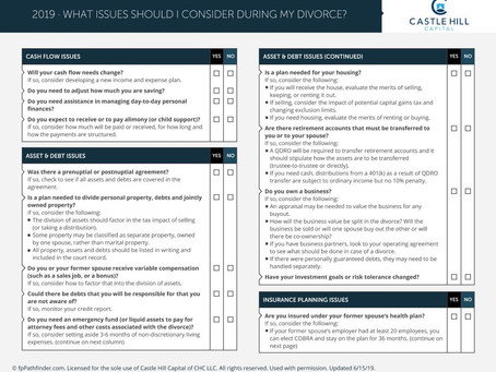 Financial Issues To Consider During Divorce