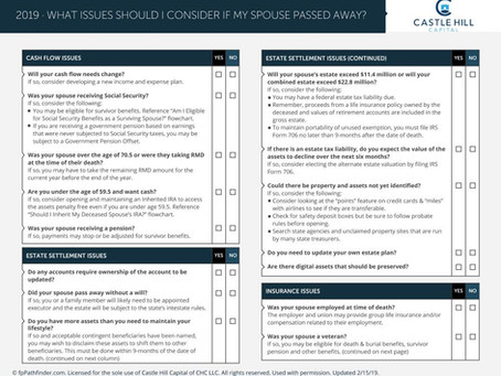 Things to Consider When Spouse Passes Away