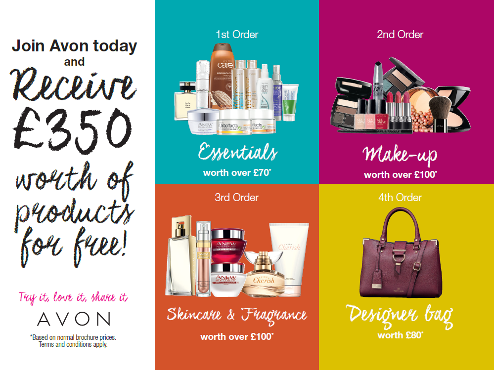 Become an AVON Representative & Receive £350 FREE PRODUCTS