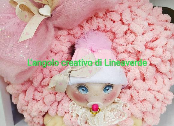kit coccarda nascita rosa