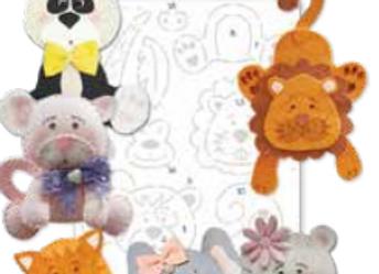 cartamodello stencil animaletti tenerosi