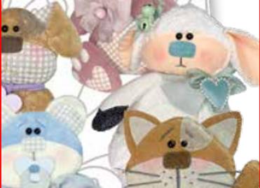 cartamodello stencil cuccioli amorosi