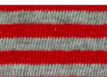 tubolare mini righe rosso-grigio