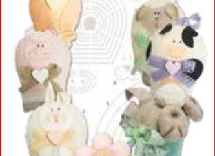 cartamodello stencil fiori e animaletti