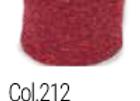tubolare mini lurex rosso-oro