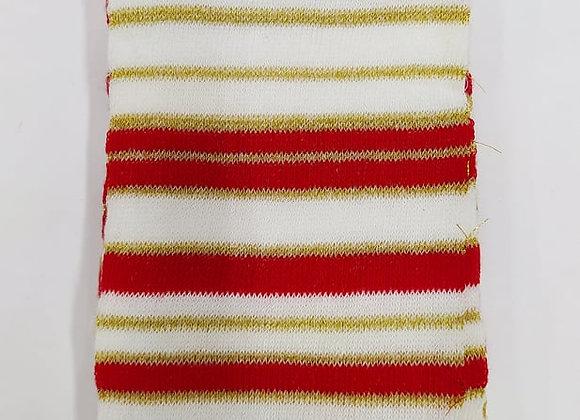 tubolare glitter righe rosso