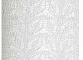 tubolare pizzo lurex argento