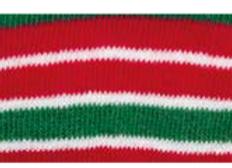 tubolare righe rosso-verde-bianco