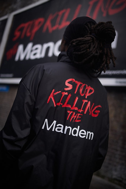 STOP KILLING THE MANDEM Windbreaker