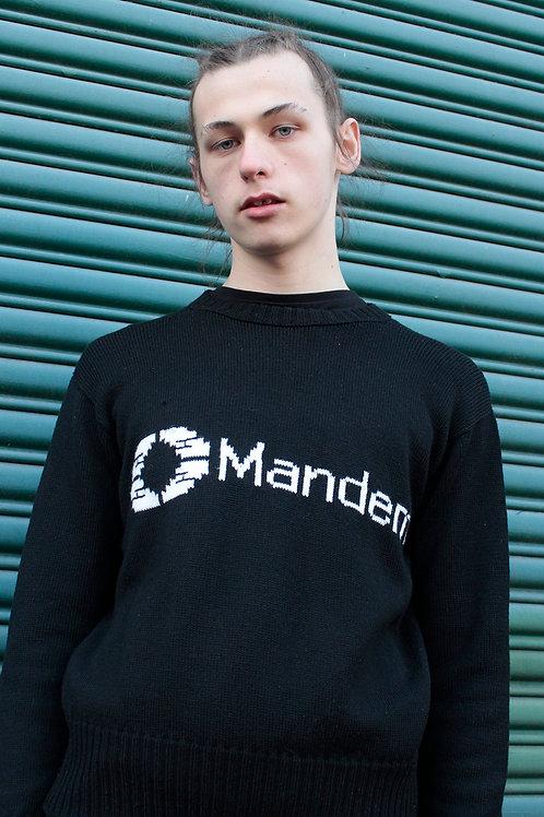 MANDEM BLACK KNIT JUMPER