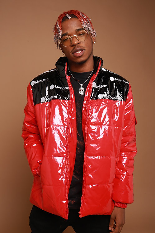 MANDEM RED PUFFER JACKET