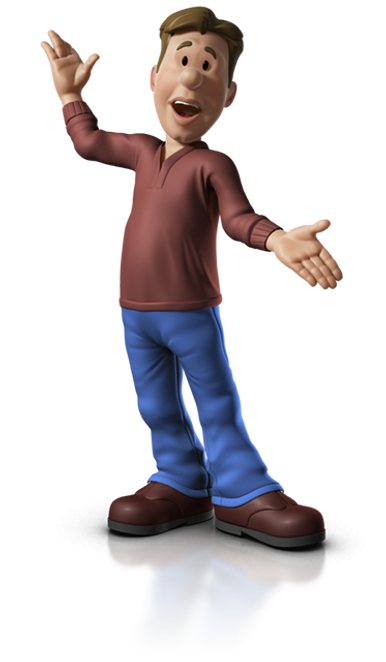 3d illustration of a medical animator waiting for a medica device manufacturer to contact him.
