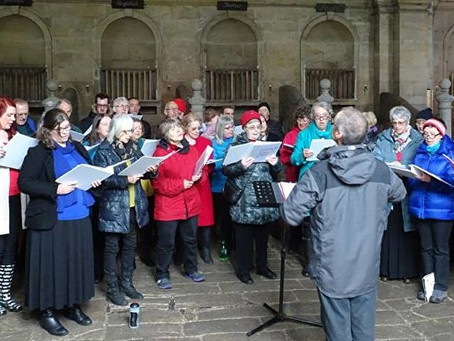 A cold afternoon singing in the stables at Seaton Delaval Hall - 1st May 2016