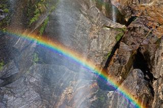 Waterfall, Milford Sound, South Island,
