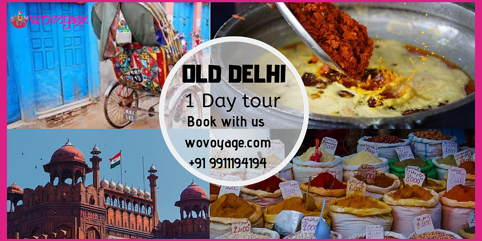 One day Old Delhi rickshaw tour at INR-500/- per person.