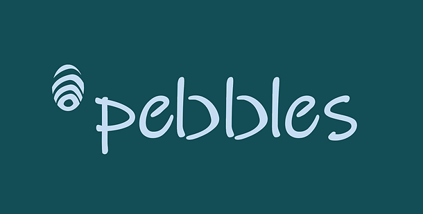 bracket cut out idea pebbles logo