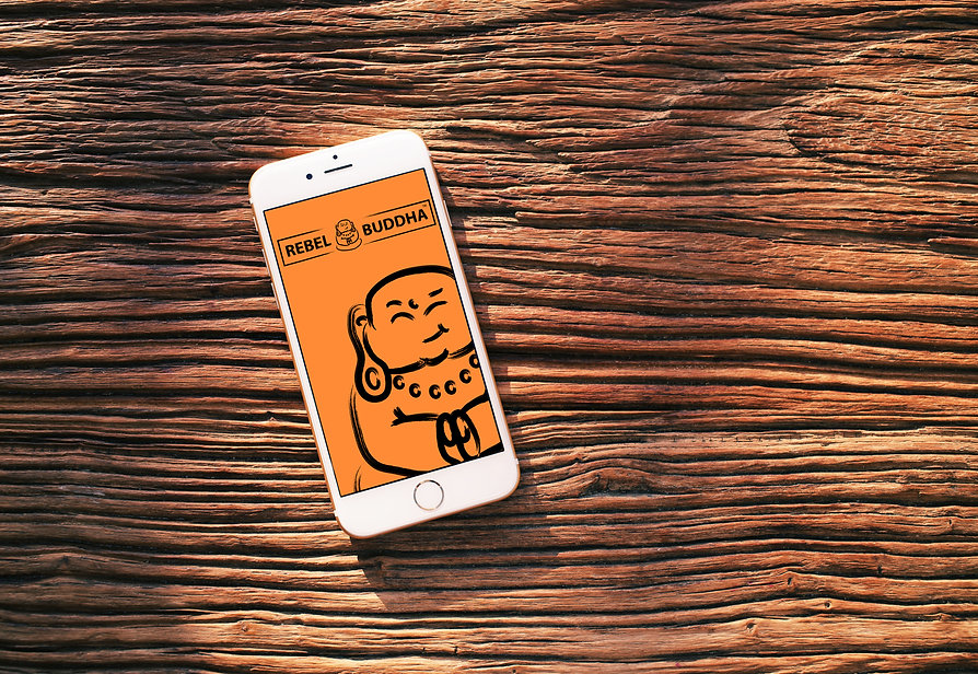 iPhone 6 Wood Top rebel buddha