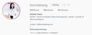 Bonnie Tsang Instagram screenshot