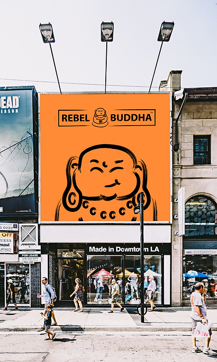 rebel buddha billboard