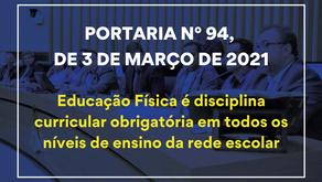 Portaria n° 94, de 3 de março de 2021