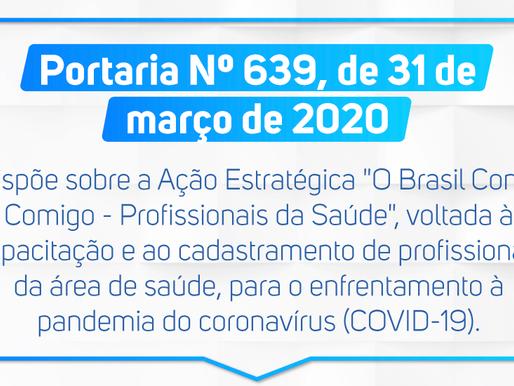 Portaria Nº 639, de 31 de março de 2020