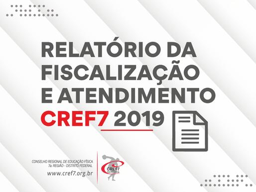 Relatório 2019 - Fiscalização e Atendimento CREF7