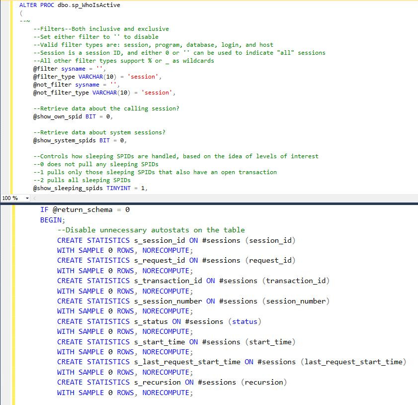 SSMS Split Screen