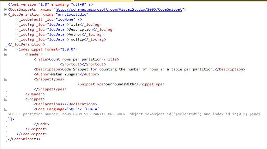 SQL Server Surround With Snippet