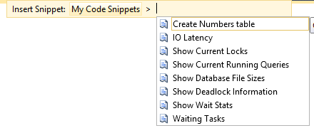 SSMS Expansion Snippet