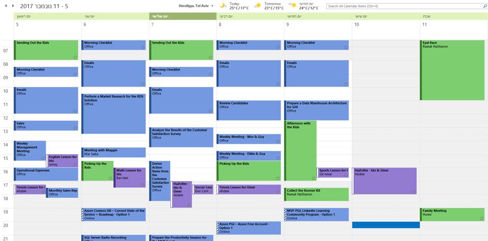 Productivity on My Calendar