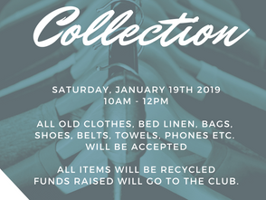 We want your old clothes! 09/01/2019
