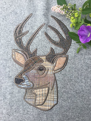 Stags Head Machine Embroidery