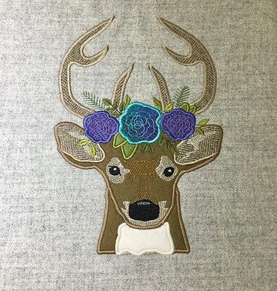 Tweed Deer with flowers